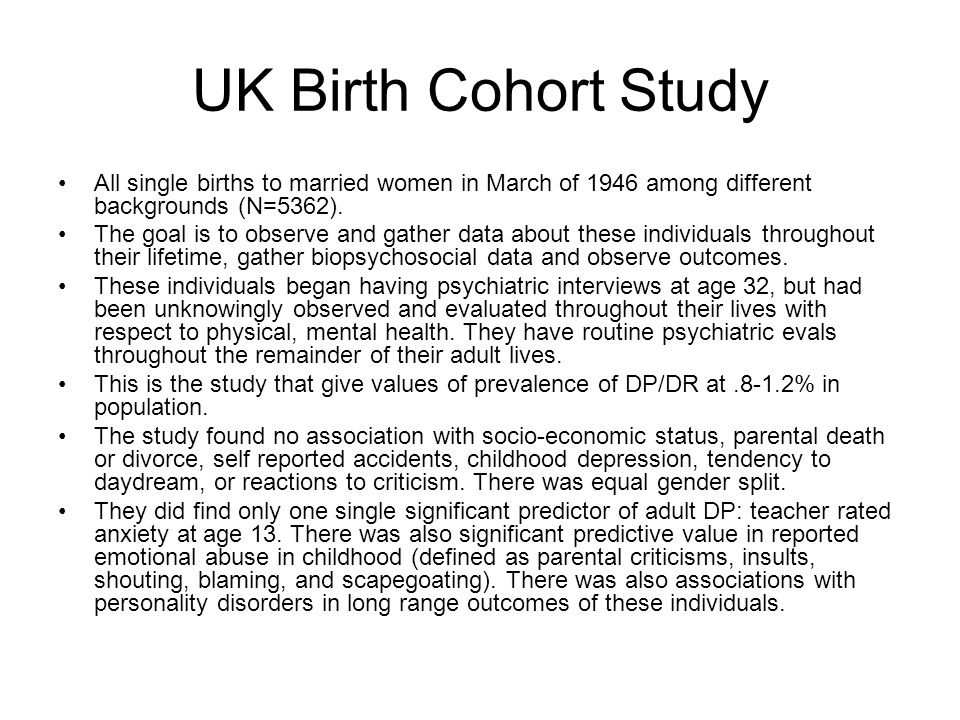 UK Birth Cohort Study All single births to married women in March of 1946 among different backgrounds (N=5362).