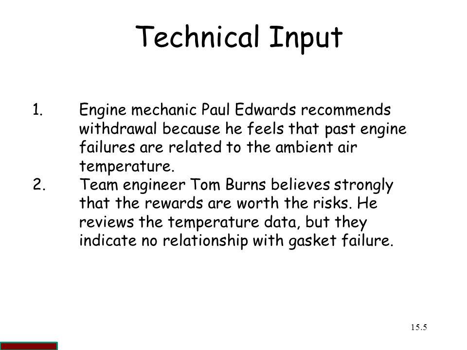 Technical Input