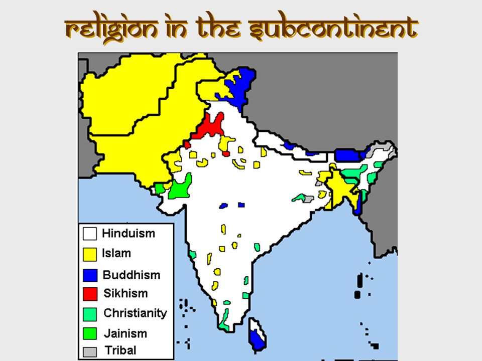 Religion in the Subcontinent