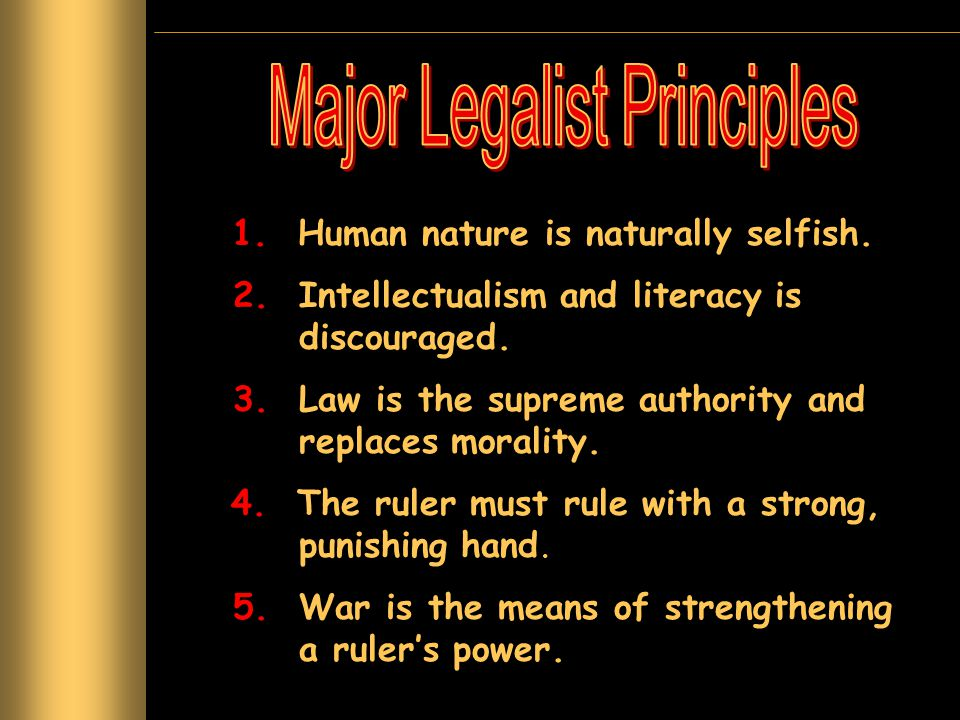 Major Legalist Principles