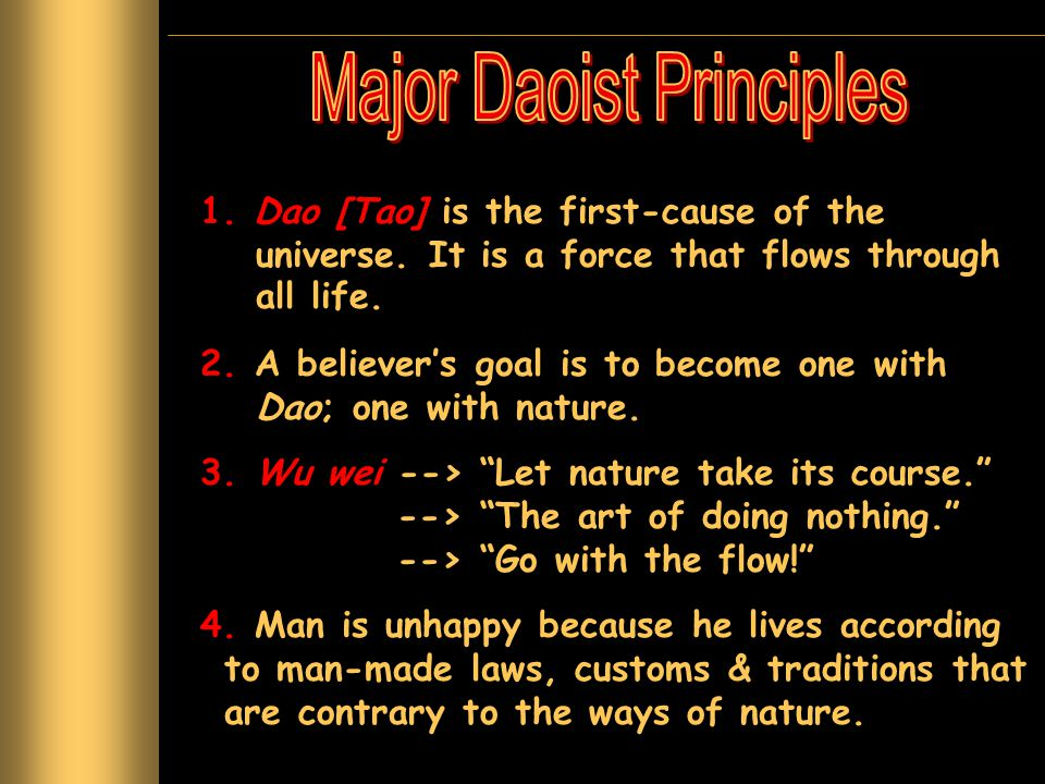 Major Daoist Principles
