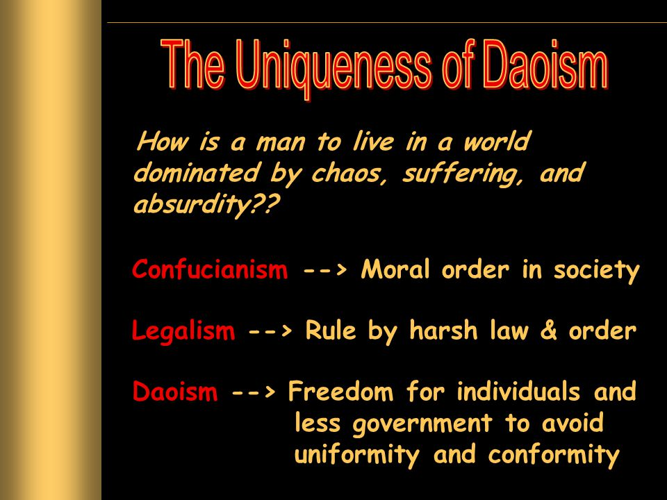The Uniqueness of Daoism