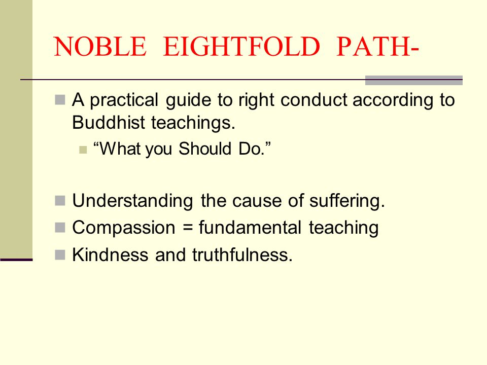 NOBLE EIGHTFOLD PATH- A practical guide to right conduct according to Buddhist teachings. What you Should Do.