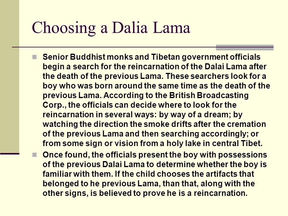 Choosing a Dalia Lama