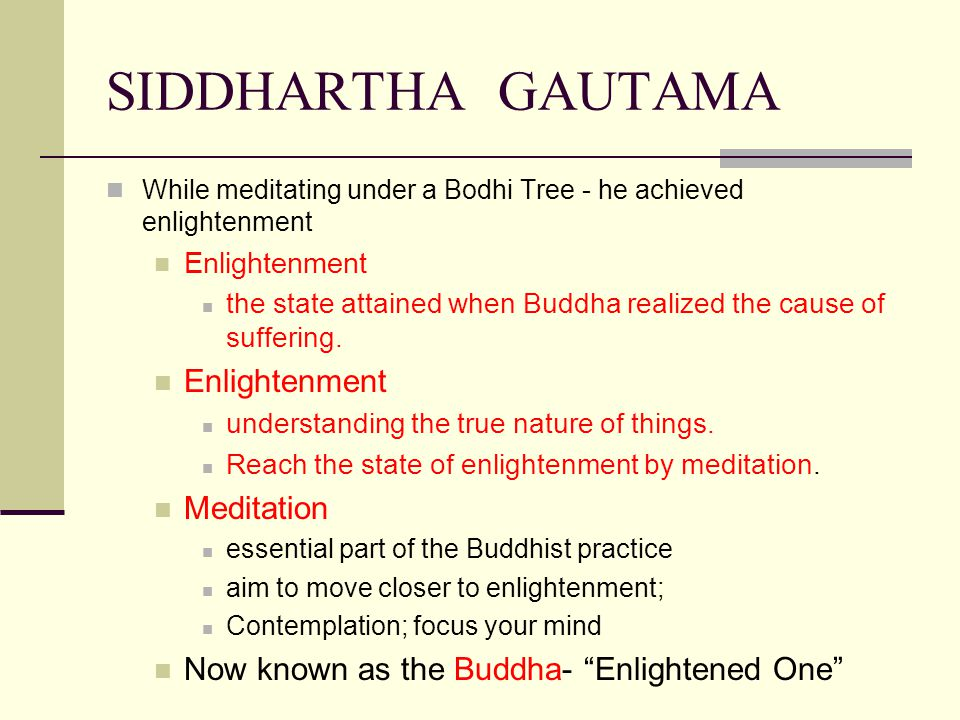 SIDDHARTHA GAUTAMA Meditation