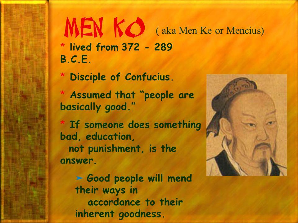 Men K0 ( aka Men Ke or Mencius)