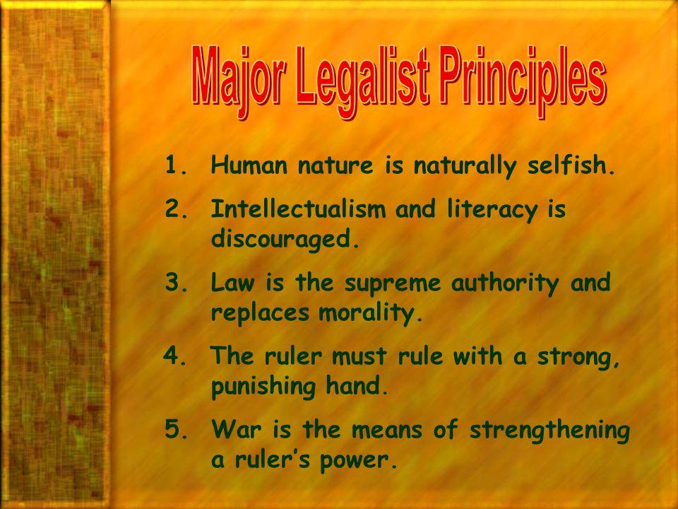 Major Legalist Principles