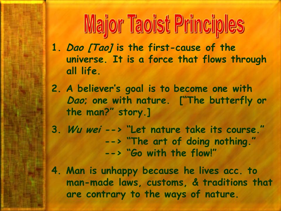 Major Taoist Principles