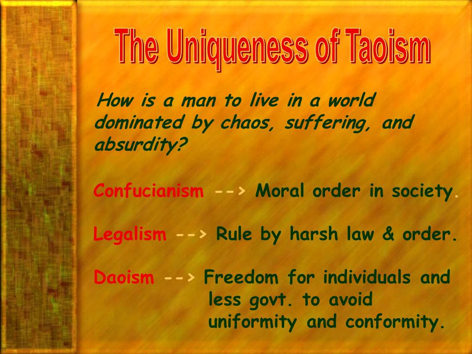 The Uniqueness of Taoism
