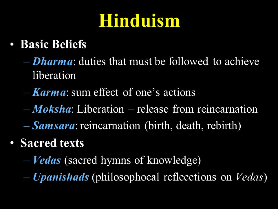 Hinduism Basic Beliefs Sacred texts