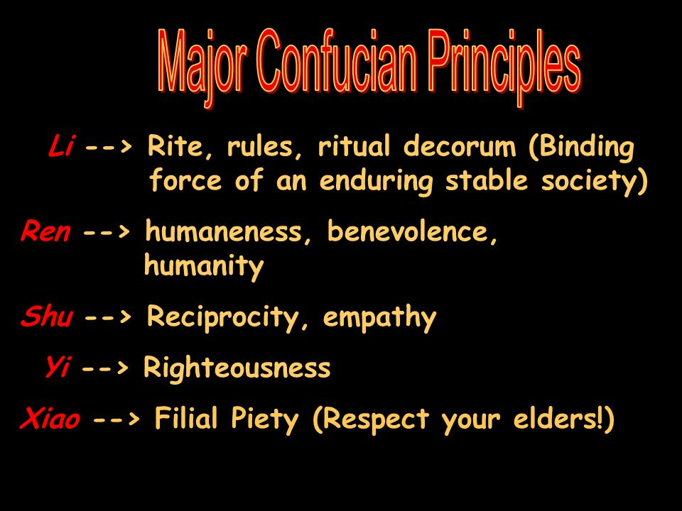 Major Confucian Principles