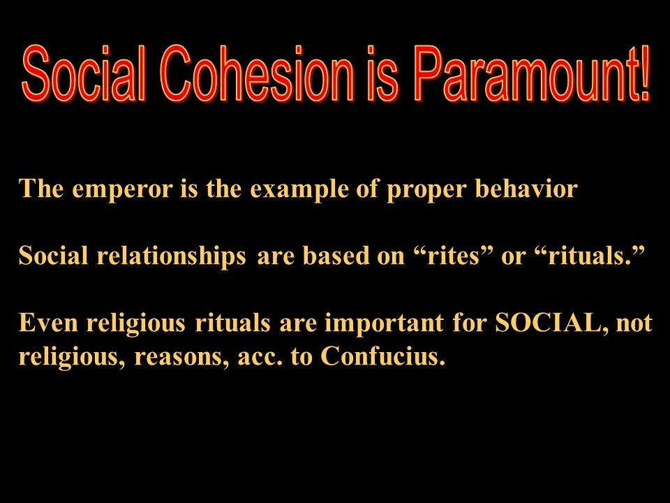 Social Cohesion is Paramount!