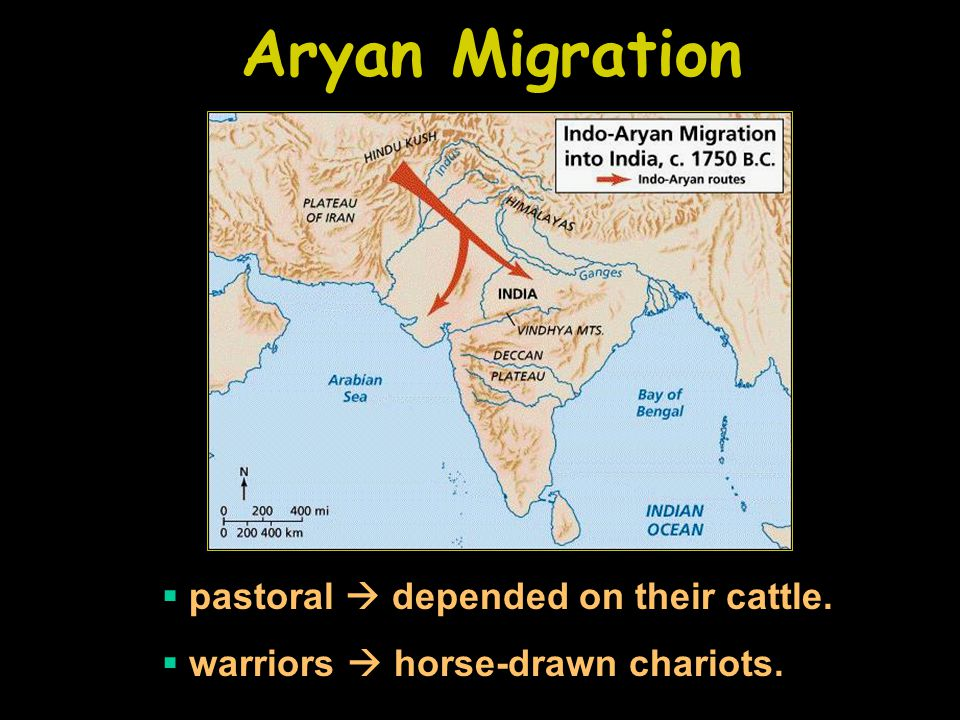 Aryan Migration pastoral  depended on their cattle.