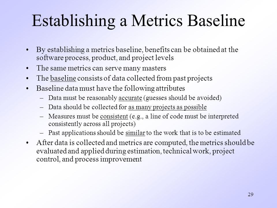 Establishing a Metrics Baseline