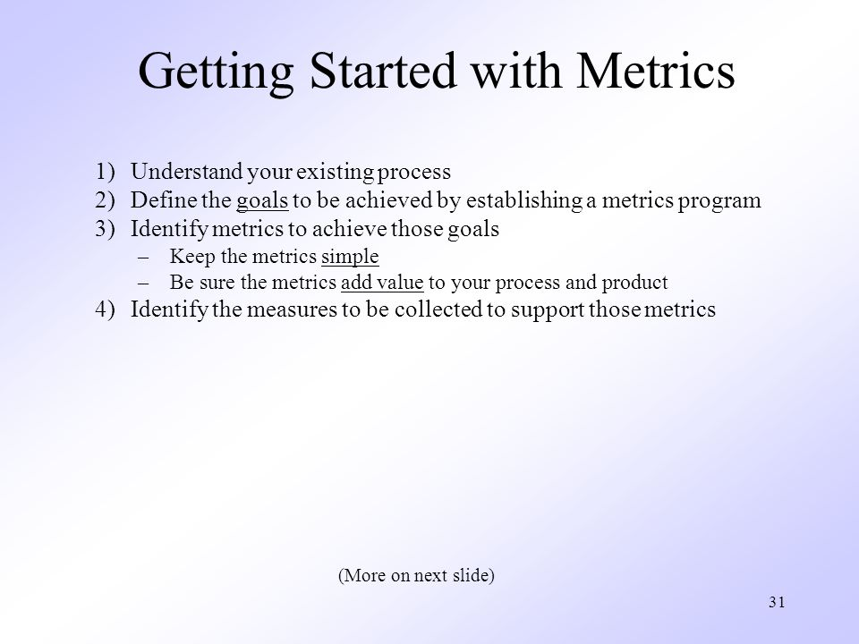 Getting Started with Metrics