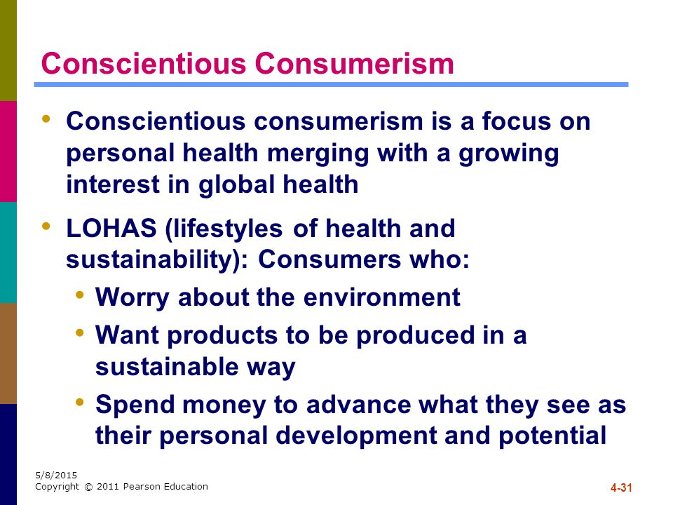 Conscientious Consumerism