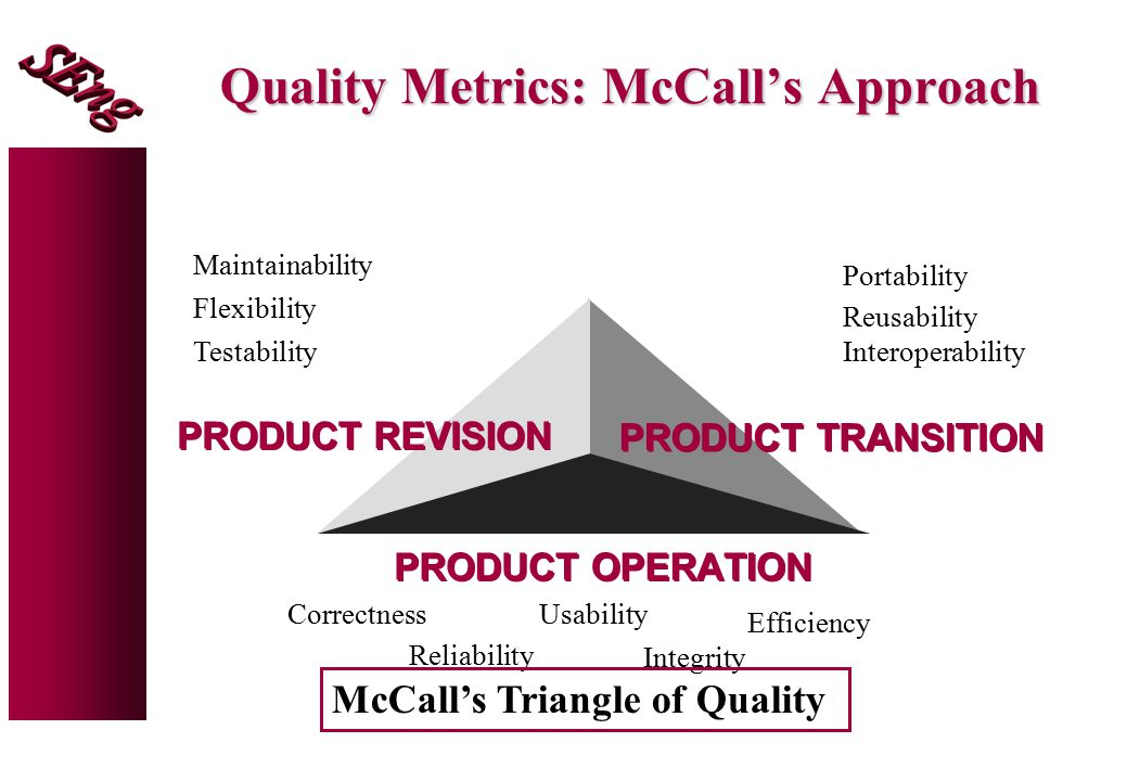 Quality Metrics: McCall's Approach
