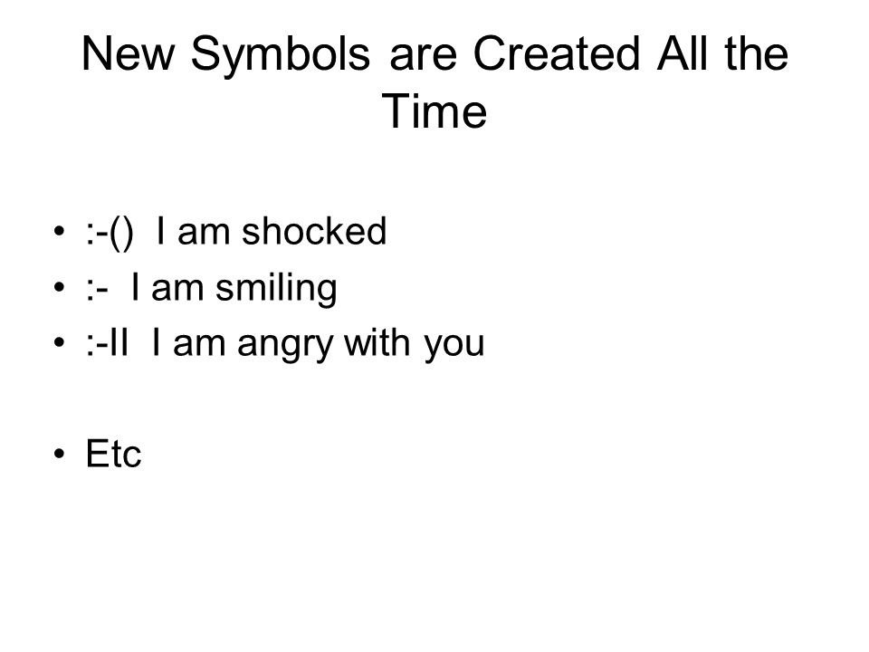 New Symbols are Created All the Time