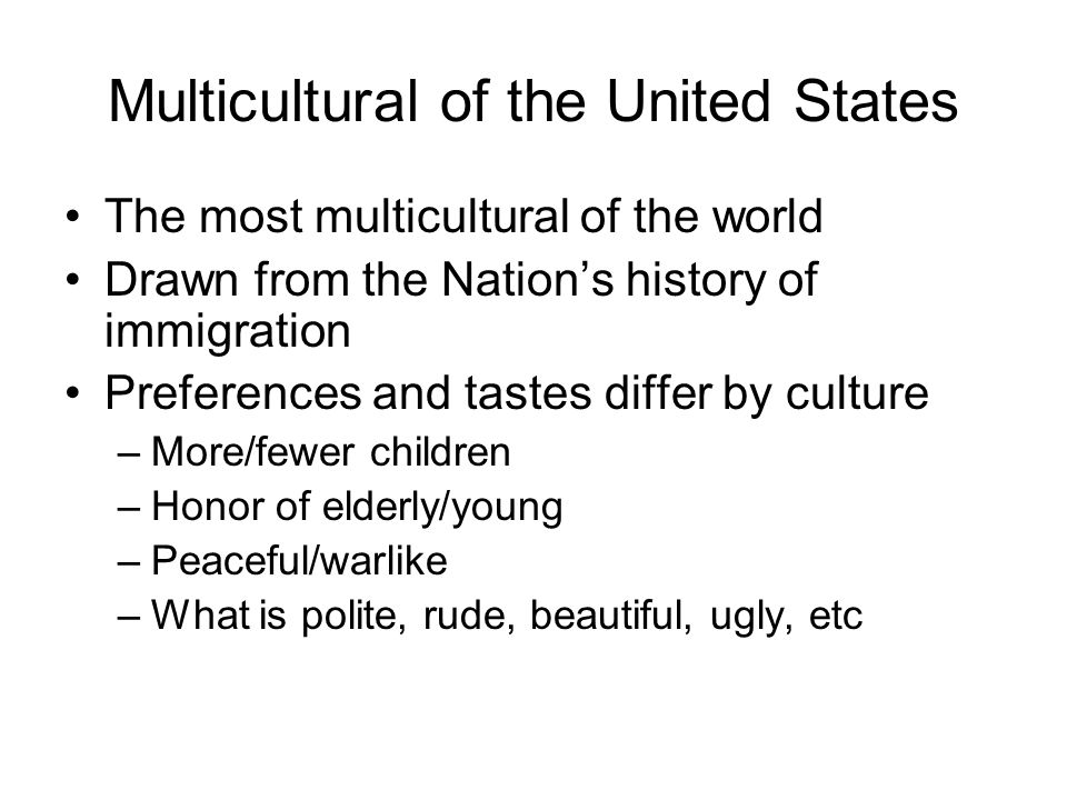 Multicultural of the United States