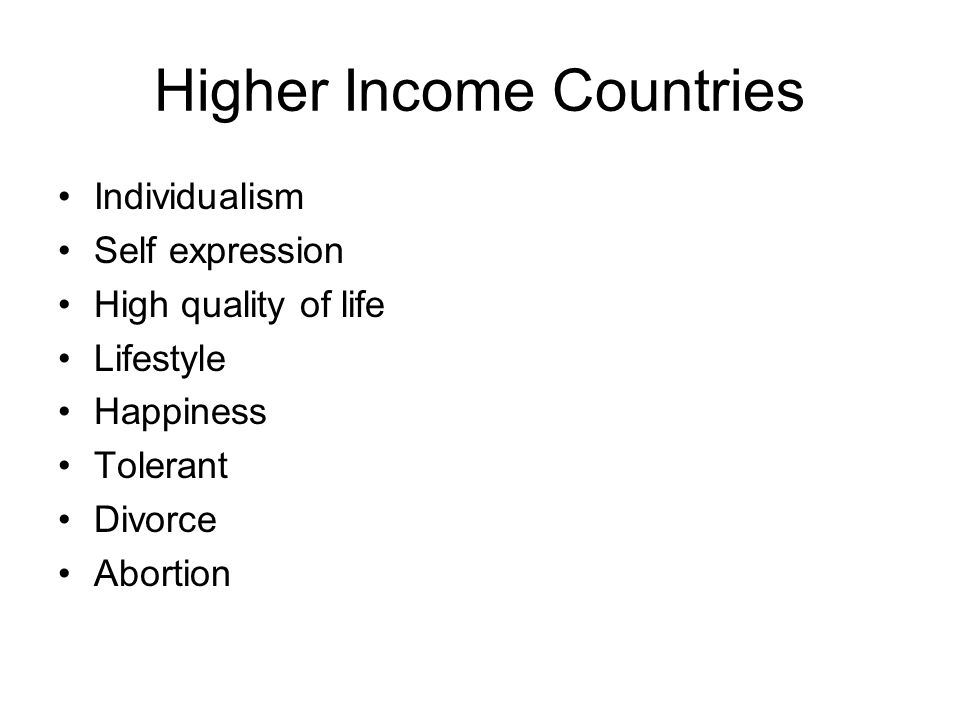 Higher Income Countries