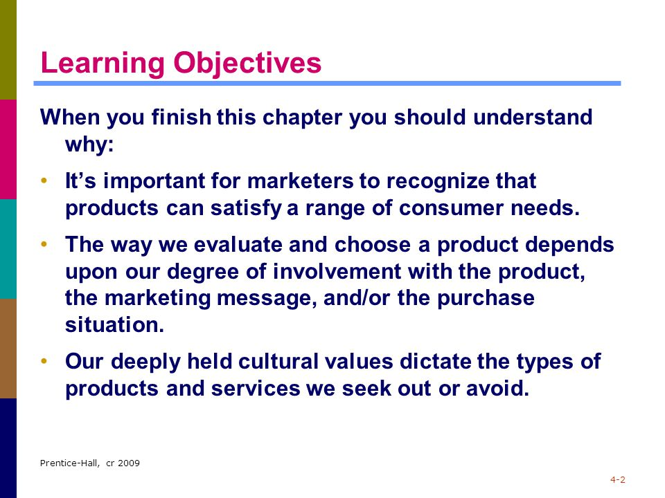 Learning Objectives When you finish this chapter you should understand why: