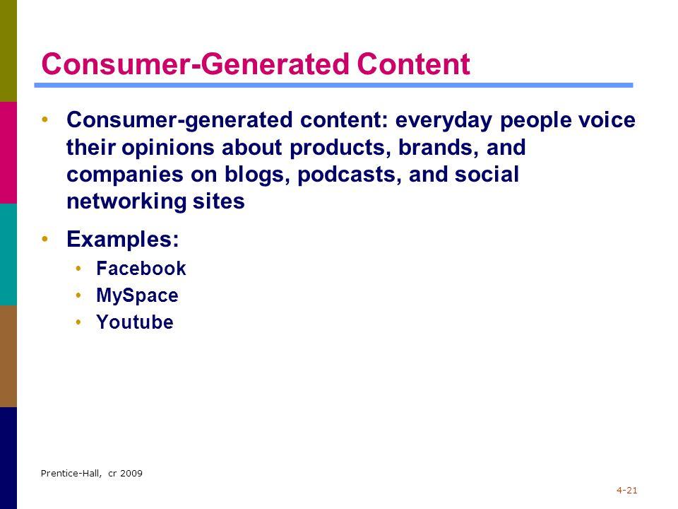 Consumer-Generated Content