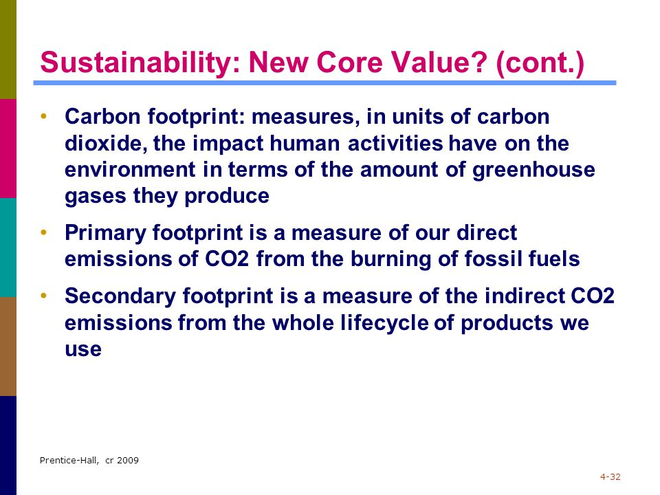 Sustainability: New Core Value (cont.)