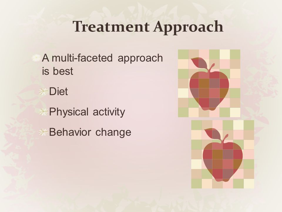 Treatment Approach A multi-faceted approach is best Diet