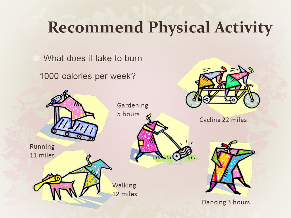 Recommend Physical Activity