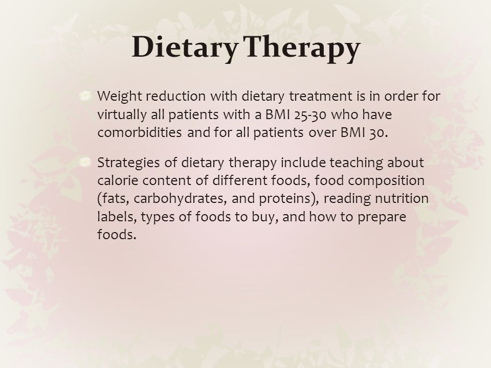 Dietary Therapy