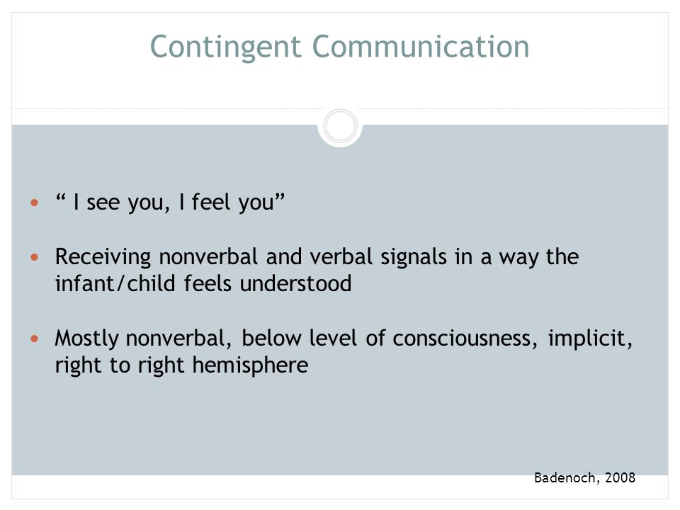 Contingent Communication