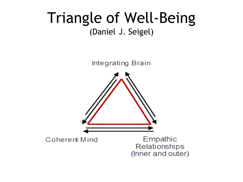 Triangle of Well-Being (Daniel J. Seigel)