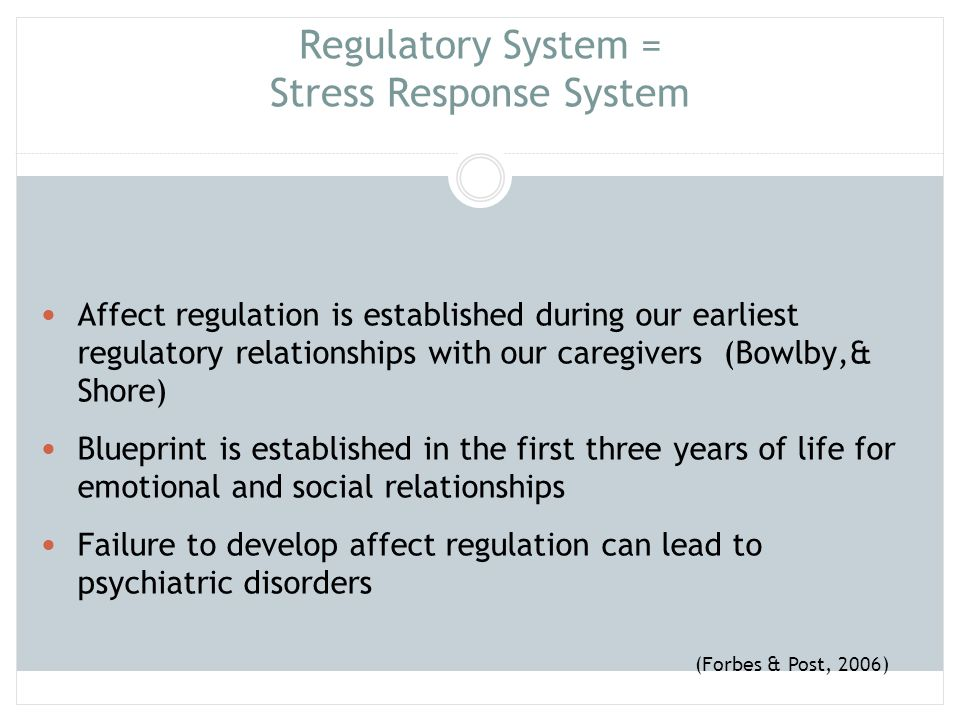 Regulatory System = Stress Response System