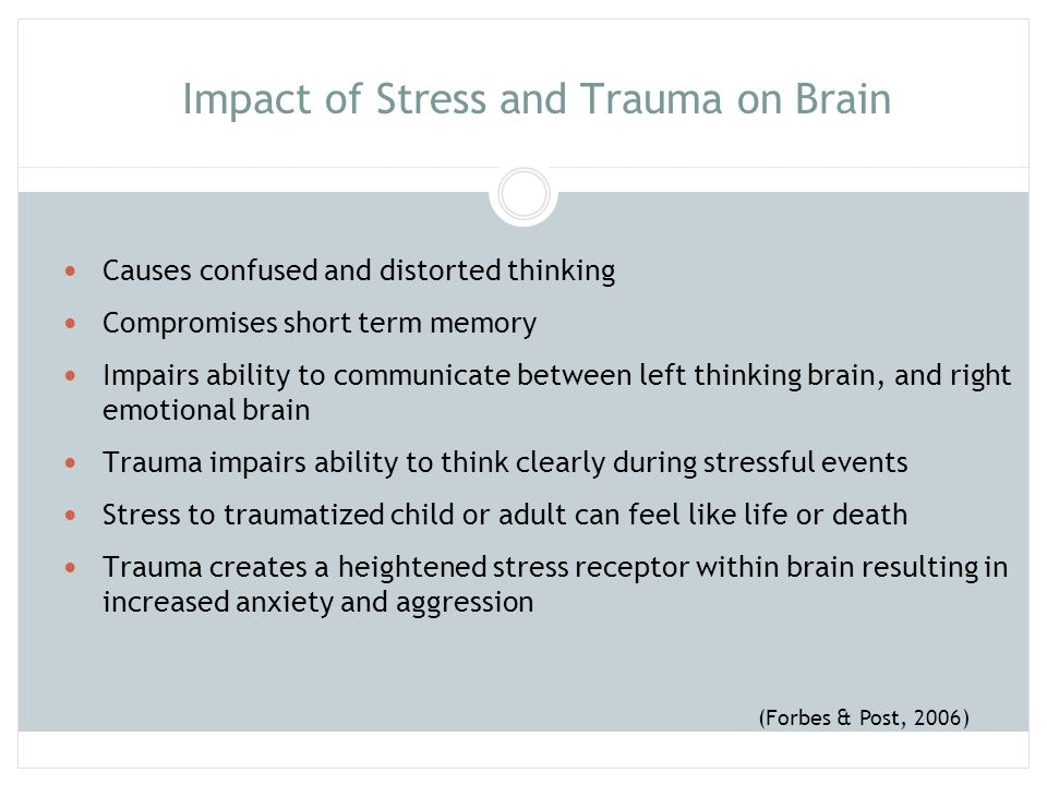 Impact of Stress and Trauma on Brain