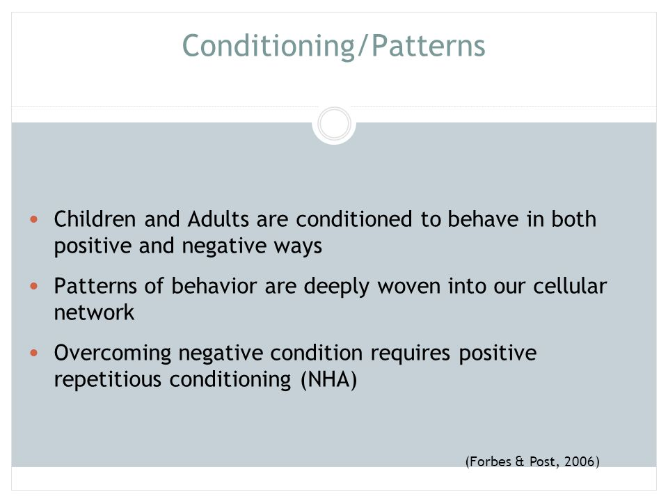 Conditioning/Patterns