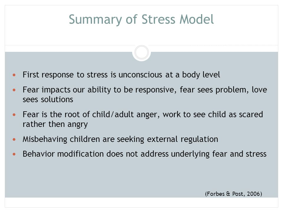Summary of Stress Model