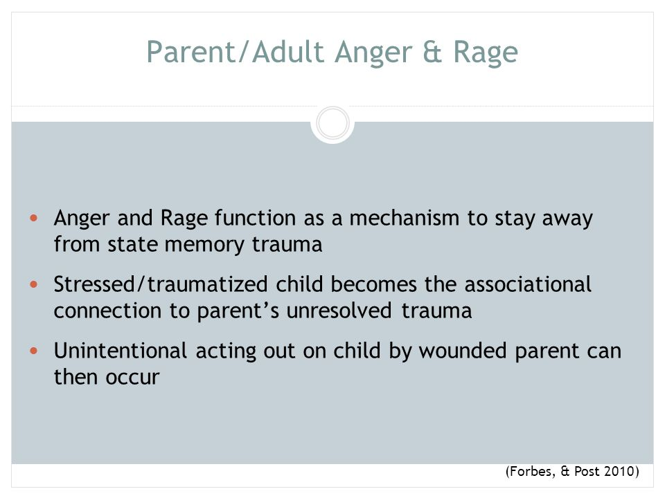 Parent/Adult Anger & Rage