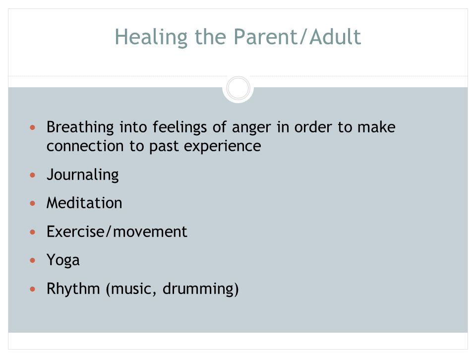Healing the Parent/Adult