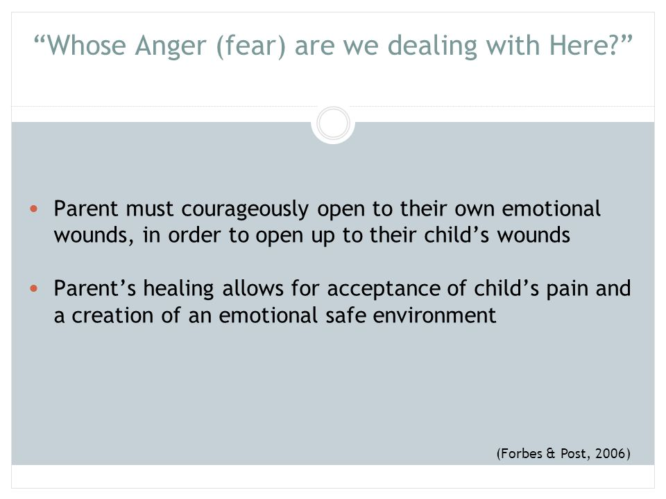 Whose Anger (fear) are we dealing with Here