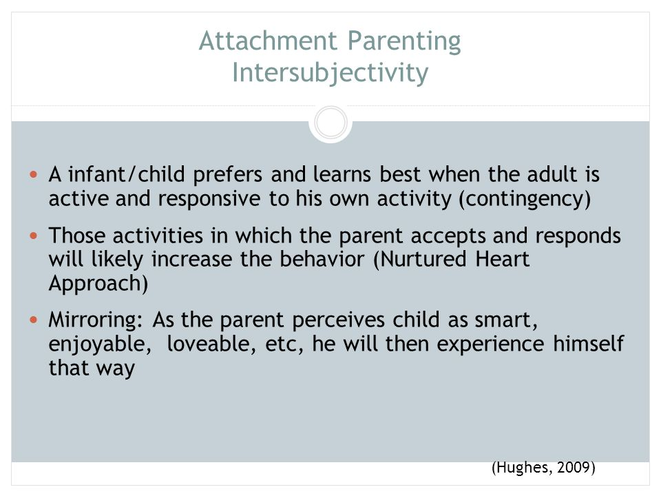 Attachment Parenting Intersubjectivity