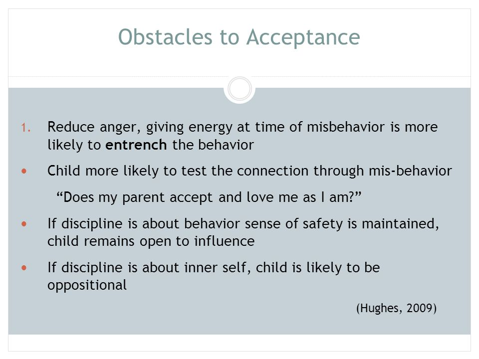 Obstacles to Acceptance