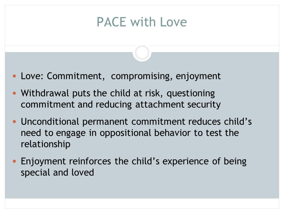 PACE with Love Love: Commitment, compromising, enjoyment