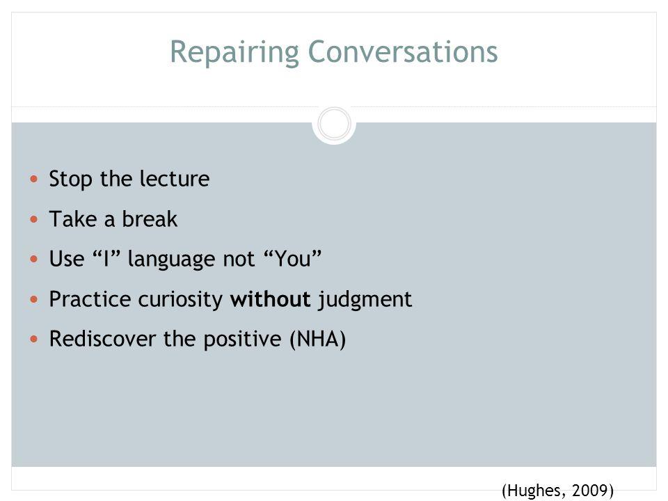 Repairing Conversations