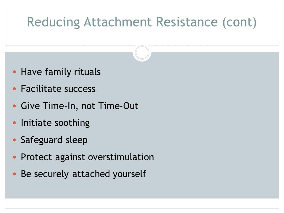Reducing Attachment Resistance (cont)