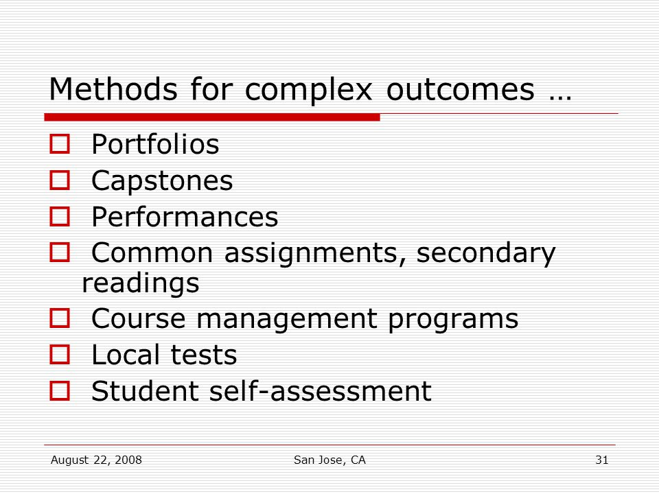 Methods for complex outcomes …