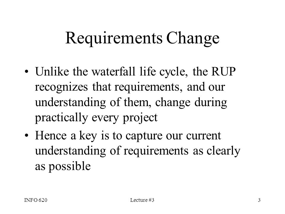Requirements Change