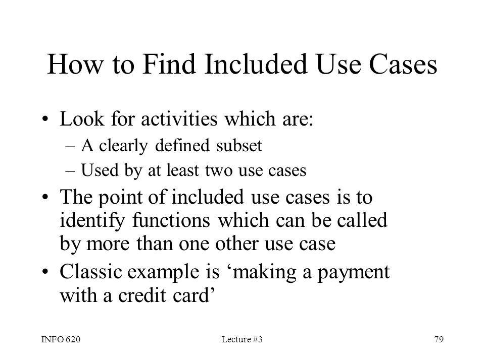 How to Find Included Use Cases