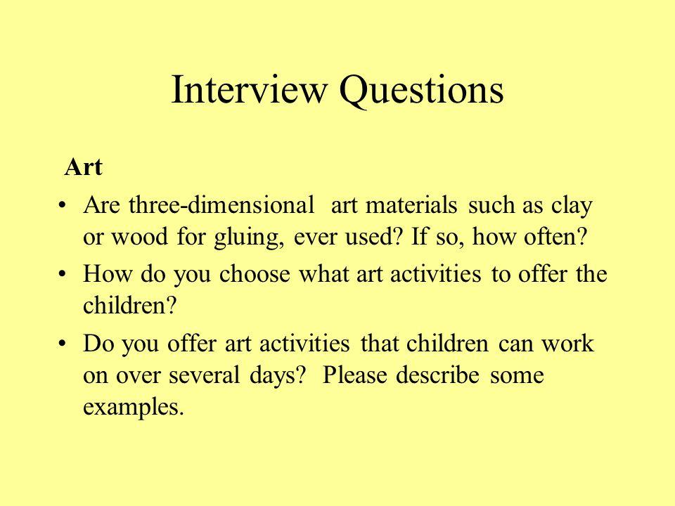 Interview Questions Art