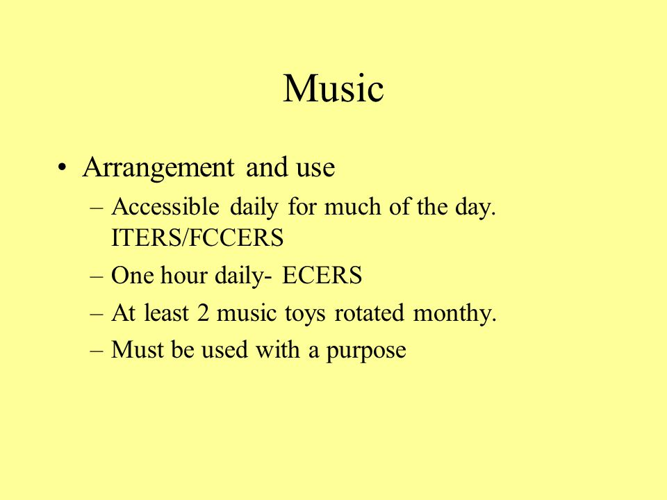 Music Arrangement and use