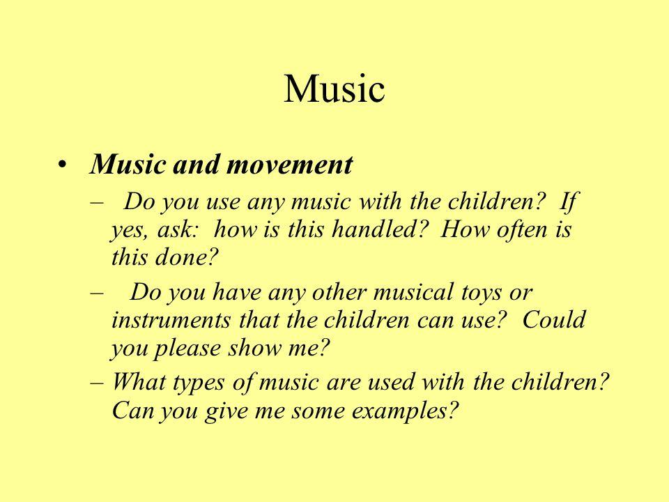 Music Music and movement